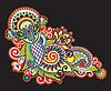 Ornate flower design | Stock Vector Graphics