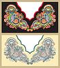 Neckline embroidery fashion | Stock Vector Graphics