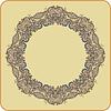Векторный клипарт: Круг орнамент, декоративные кружева вокруг