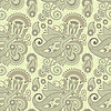 seamless flower paisley design