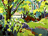 Vector clipart: Original oil painting landscape with tree