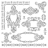 Vector clipart: decorative design heraldic element of old historical