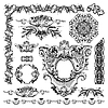 Vector clipart: ornamental design element of Lviv historical building