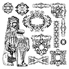 Vector clipart: ornamental design element of Lviv historical