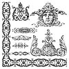 Vector clipart: ornamental design elements