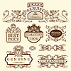 Ornate premium quality and guarantee labels | Stock Vector Graphics