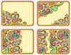 Set of four flower background design   Stock Vector Graphics