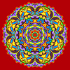 Kreisformiges Ornament, ornamentale runde Spitzen | Stock Vektrografik