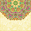 ornamental abstract circle floral background
