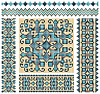 Vector clipart: cross-stitch ukrainian pattern