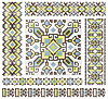 Vector clipart: cross-stitch ethnic Ukraine pattern design