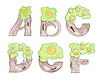 Vector clipart: marker doodle eco english alphabet