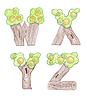 Vector clipart: marker doodle eco english alphabet