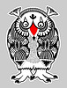 Vector clipart: animal fantasy personage, owl