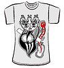 Vector clipart: t-shirt design with fantasy monster