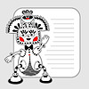 Vector clipart: monster personage pattern with place for your text