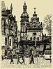 Original sketchy handgemachte Zeichnung von Lviv