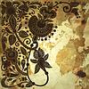 Flower design on grunge background | Stock Vector Graphics