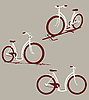 Vector clipart: bicycles