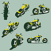 Vector clipart: motorcycles