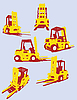 Vector clipart: road machinery