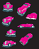 Vector clipart: glamour pink cars