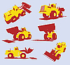 Heavy utility trucks | Stock Vector Graphics