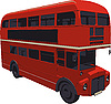Vector clipart: red Double-decker bus