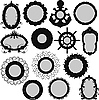 Vector clipart: frame silhouettes