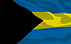 Vector clipart: flag of Bahamas