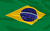 Vector clipart: flag of Brazil