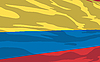 Vector clipart: flag of Colombia