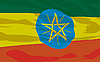 Vector clipart: flag of Ethiopia