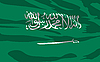 Vector clipart: flag of Saudi Arabia