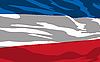 Vector clipart: flag of Serbia