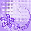 Photo 300 DPI: Purple background with flowers