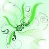 зеленый фон с букетом