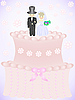 Vector clipart: wedding cake