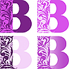 Vector clipart: initial flower letters B
