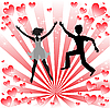 Vector clipart: Loving couple