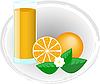 Векторный клипарт: апельсиновый сок