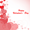 Vector clipart: red hearts