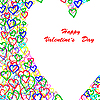 Vector clipart: Colorful hearts