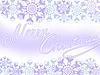 Vector clipart: violet snowflakes