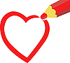 Vector clipart: Painted heart
