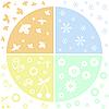 Vector clipart: four seasons