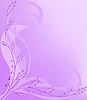 Vector clipart: asymmetrical floral background