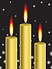 Vector clipart: gold candles