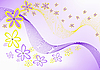 Vector clipart: flowers on purple background