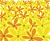 Vector clipart: yellow floral background